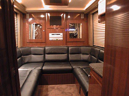 Back lounge of the coach