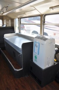 Air Conditioning, diesel generator, and interior lighting