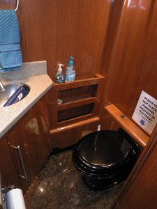 Second private bathroom in the stateroom