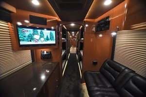 This coach is beautiful throughout and the interior conversion is in great shape