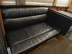 Plenty of seating in the front lounge of this coach