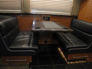 Front lounge Booth with Leather seating