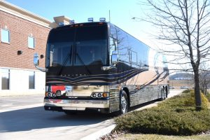 This coach is on our lot and is available for purchase at this time.