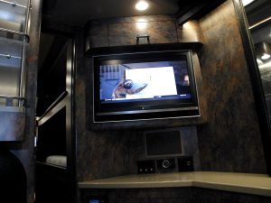 Separate entertainment center in the bedroom, 2nd Directv receiver with in-motion tracking satellite, surround, dvr sound